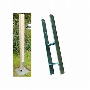 Ancrage Poteau Bois : ancrage en h pour poteaux 9 x 9 cm ~ Edinachiropracticcenter.com Idées de Décoration