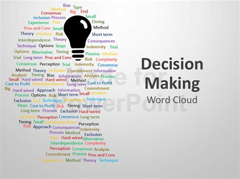 word powerpoint online decision making word cloud editable powerpoint presentation