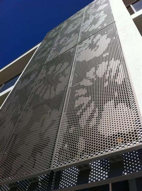 perforated metal panels modern exterior design ideas decorative metal panels metal facade