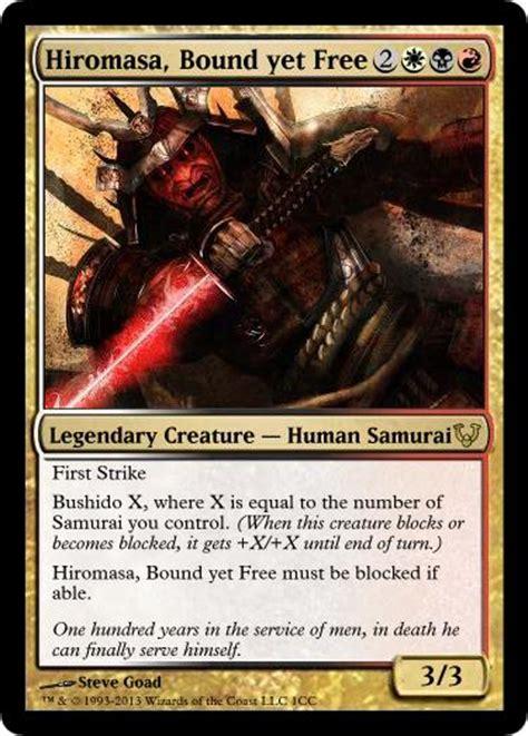 edh samurai commander custom card creation magic