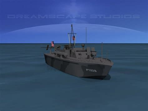 Pt Boat Elco by Elco Pt Boat Pt 209 3d Model Rigged Max Obj 3ds Lwo