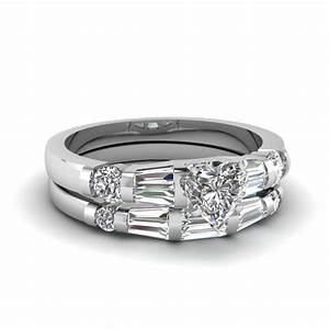 heart shaped diamond bar set baguette wedding ring sets in With baguette wedding ring sets