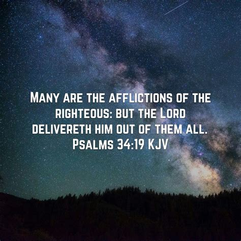 righteous  delivered psalms   assurance