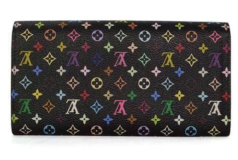 louis vuitton multi color monogram canvas sarah wallet ghw  stdibs
