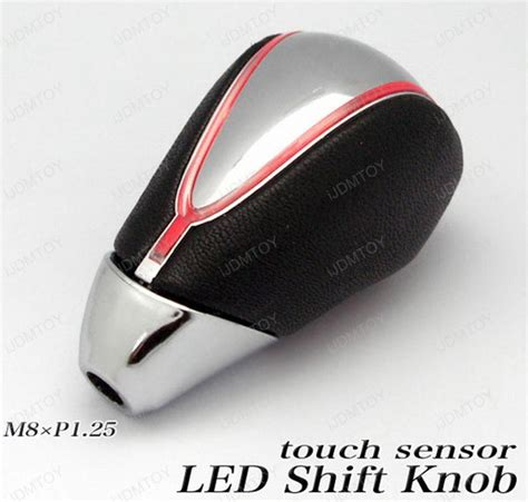 led shift knob touch activated led light 90mm m8x1 25 shift knob fit