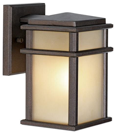 feiss mission lodge bronze wall mount 9 quot high lantern