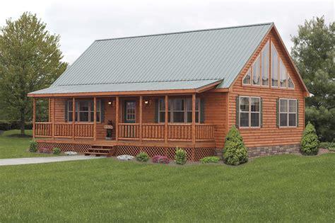 Stunning Mountaineer Deluxe Exterior In Log Cabin Double Wide