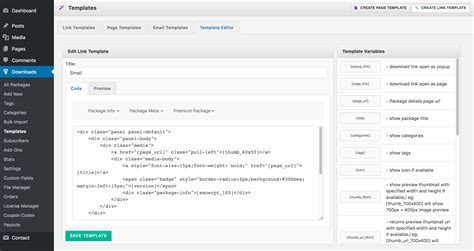 building  wordpress  manager link template