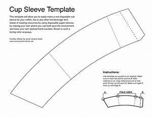 cup sleeve template templates pinterest coffee cup With template for coffee cup sleeve