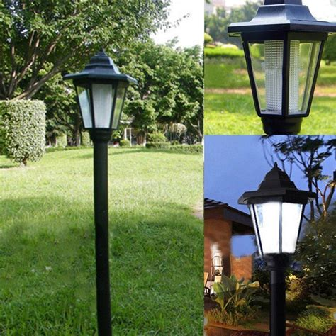 solar led outdoor l post auto outdoor garden led solar power path cited lights