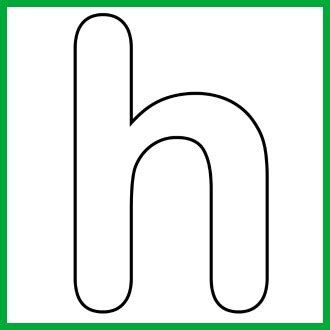 letter h template the letter h clipart best