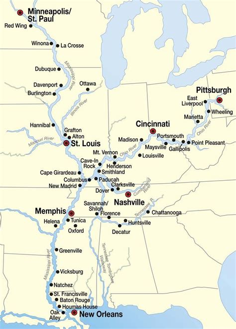 mississippi river cruise map places id