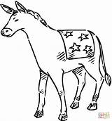 Donkey Coloring Pages Democrat Printable Donkeys Getcoloringpages Categories Animal sketch template