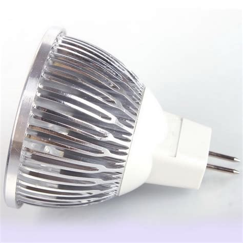 4 led mr16 4w 12v cool white spot light bulb l