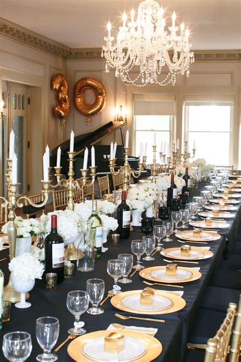black gold  birthday party birthday party