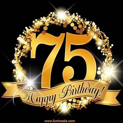 75th Birthday 65th Happy Anniversary Glitter Card