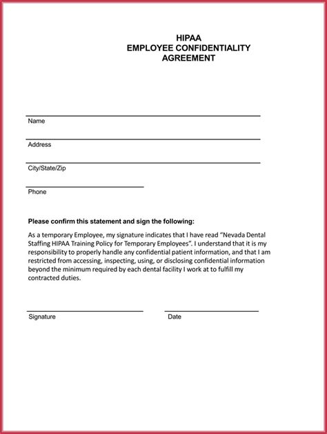 Employee Confidentiality Agreement Business Forms by Confidentiality Form Sle Medical Confidentiality
