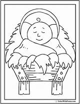Coloring Christmas Jesus Crib Colorwithfuzzy sketch template