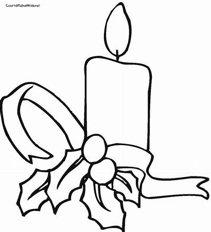 Coloring Christmas Pages Candles Candle Colouring Printable
