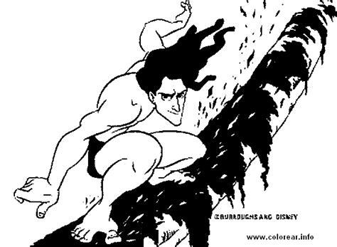 Tarzan-se-desliza Tarzan Printable Coloring Pages For Kids