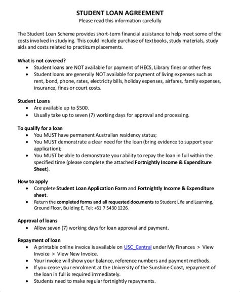 loan agreement templates word  apple pages