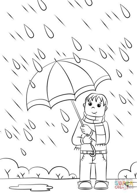 spring rain coloring page  printable coloring pages
