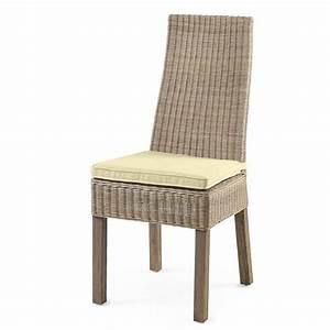 chaise rotin chaise cuisine grise chaise de cuisine en With chaise salle a manger rotin pour deco cuisine