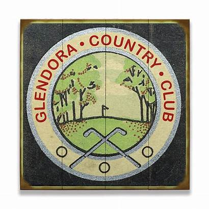 Golf Sign Country Club Signs Wood Course