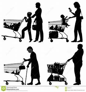 Supermarket shoppers stock vector. Illustration of elderly ...