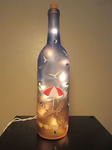 25 best ideas about lighted wine bottles on