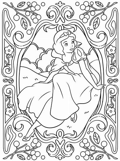 Coloring Adults Disney Pages Snow