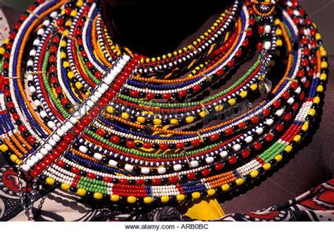 Maasai Beaded Necklace Stock Photos & Maasai Beaded
