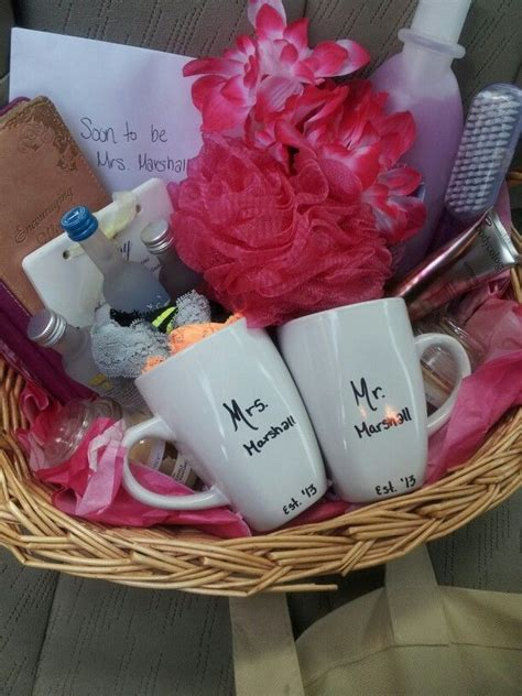 pin  christa miles  gifts bridal shower gift baskets
