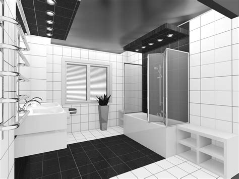 Modern Bathroom Black Tile by 15 Black And White Bathroom Ideas Design Pictures