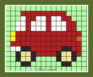 Pixel Art Voiture Facile : nini loom loisirs cr atifs page 11 ~ Maxctalentgroup.com Avis de Voitures