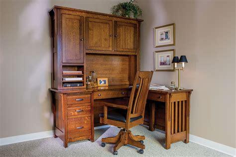 boston corner desk  hutch custom amish furniture