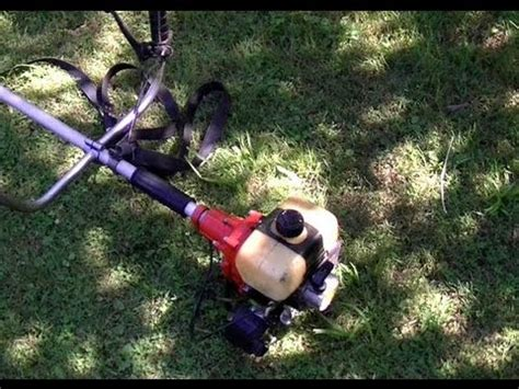 stihl fs av grass trimmer start  youtube