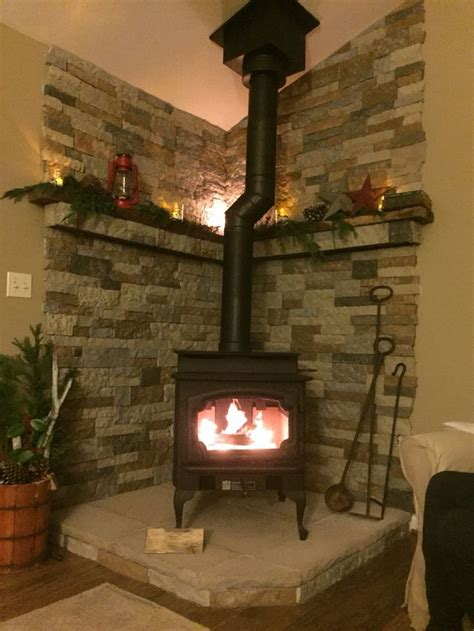 project completed  lopi endeavor woodstove hearth