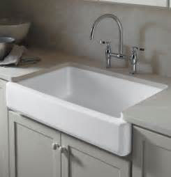 amazon com kohler k 6489 0 whitehaven self trimming apron front single basin sink with tall