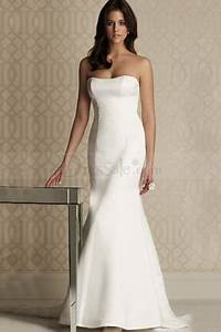 34 best wedding dresses images on pinterest bridal With plain white wedding dress