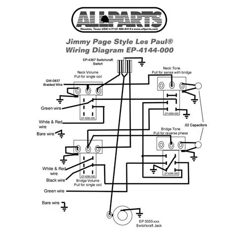 Wiring Kit Gibson Jimmy Page Les Paul Complete With