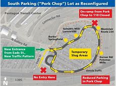 Pentagon Slug Lines and South Parking Lot To Be