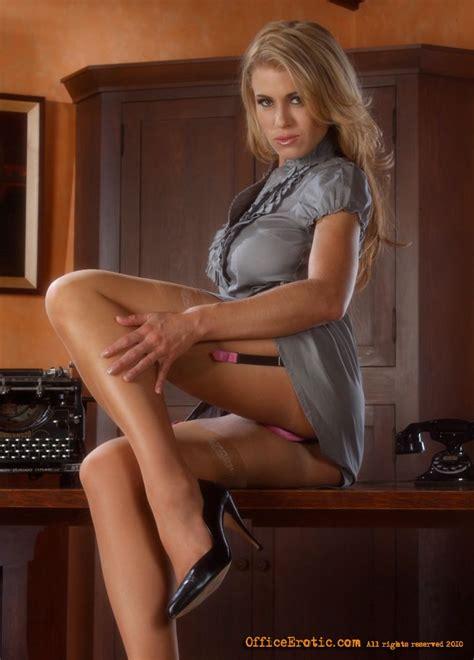 Sexy Blonde Secretary Undresses And Rubs He XXX Dessert Picture