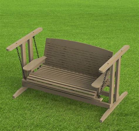 glider bench plans images  pinterest