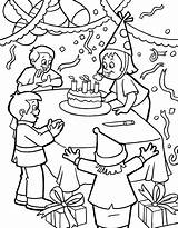 Birthday Coloring Printable Categories sketch template