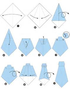 origami of tie