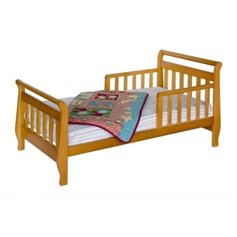 davinci sleigh toddler bed davinci wood sleigh toddler bed in oak m2990o