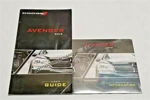 2012 Dodge Avenger Owners Manual Sedan Sxt Se R  T Gts