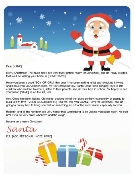 letters  santa santa letters  print  home