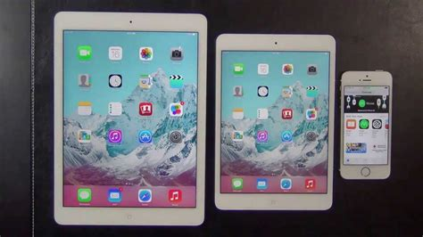 Ipad Air Vs Ipad Mini 2 (retina Display) Vs Iphone 5s
